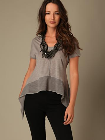We the Free Drip Hem Top. White only. Was $78 NOW $29.95!