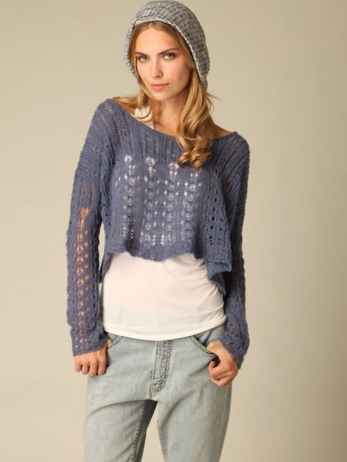Free People Pointelle Pullover. Also comes in cream. Was $98 NOW $49.95!